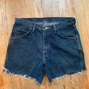 Wrangler Cropped Denim Cutoff Shorts